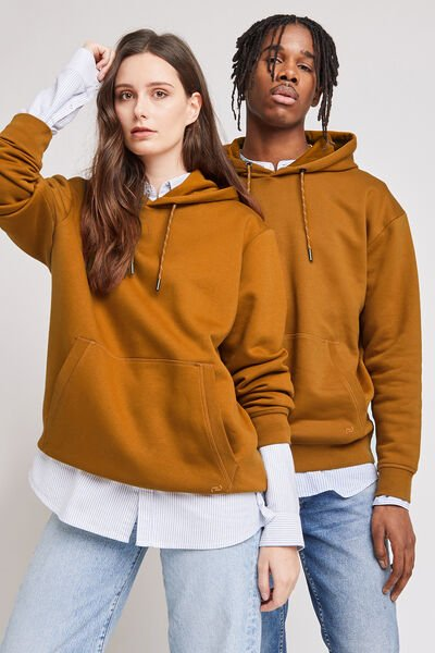 Sweat à capuche uni oversized