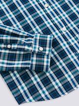 Chemise à carreaux slim en coton biologique