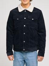 Blouson velours côtelé col chemise
