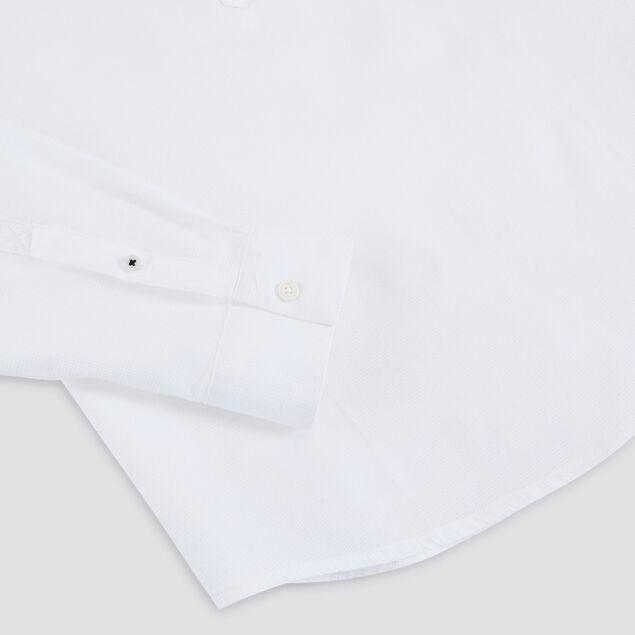 Chemise regular manches longues col officier coton