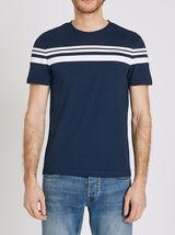T-shirt rayures contrastées