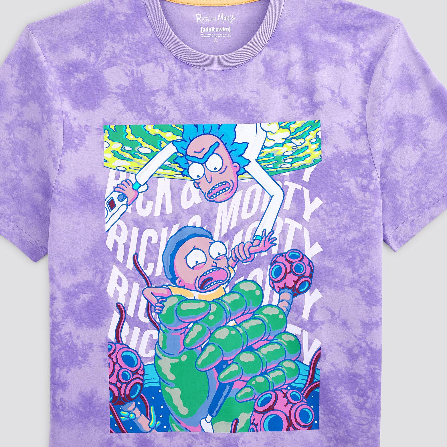 Tee shirt imprimé Rick et Morty