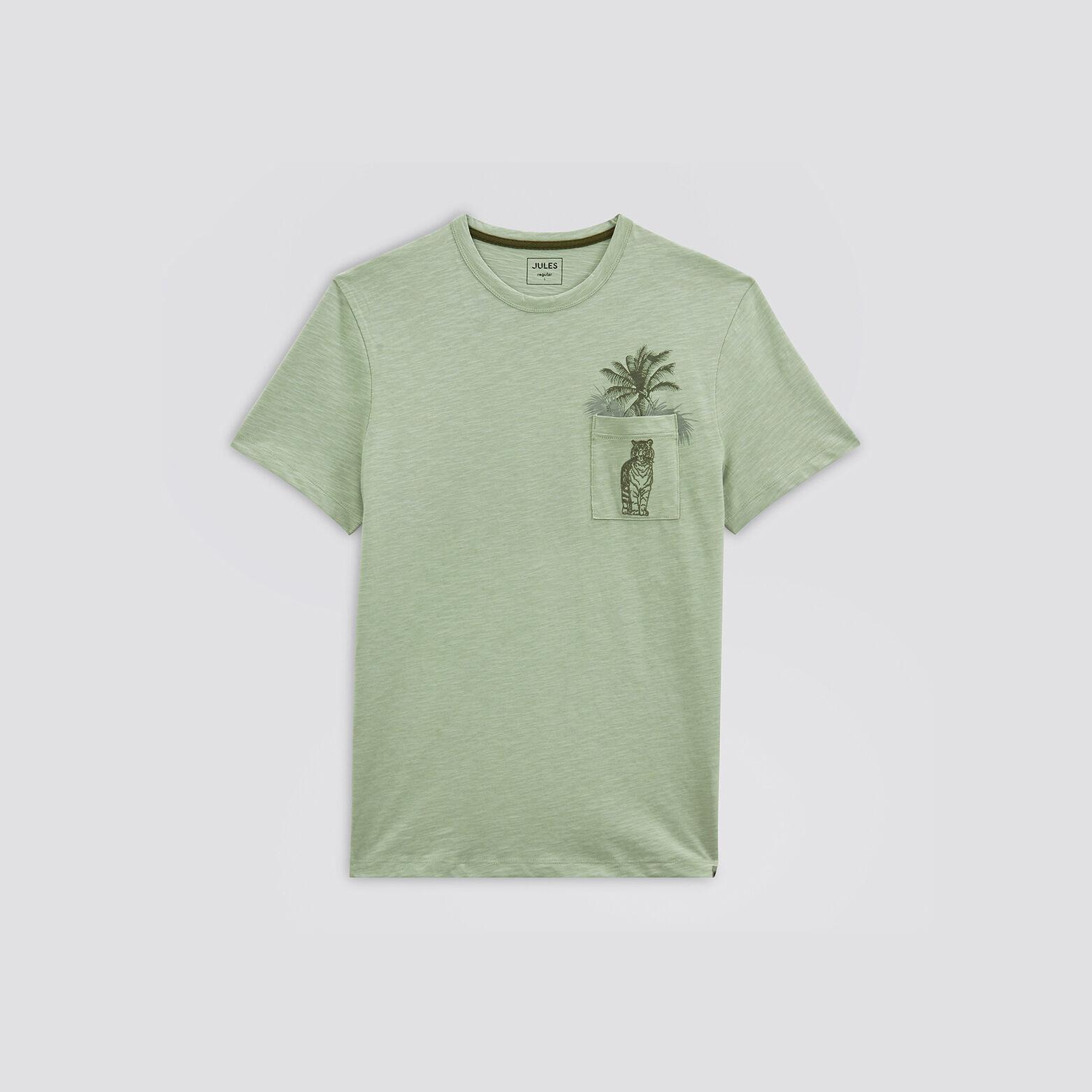 Tee-shirt avec détails fantaisie sur la poche