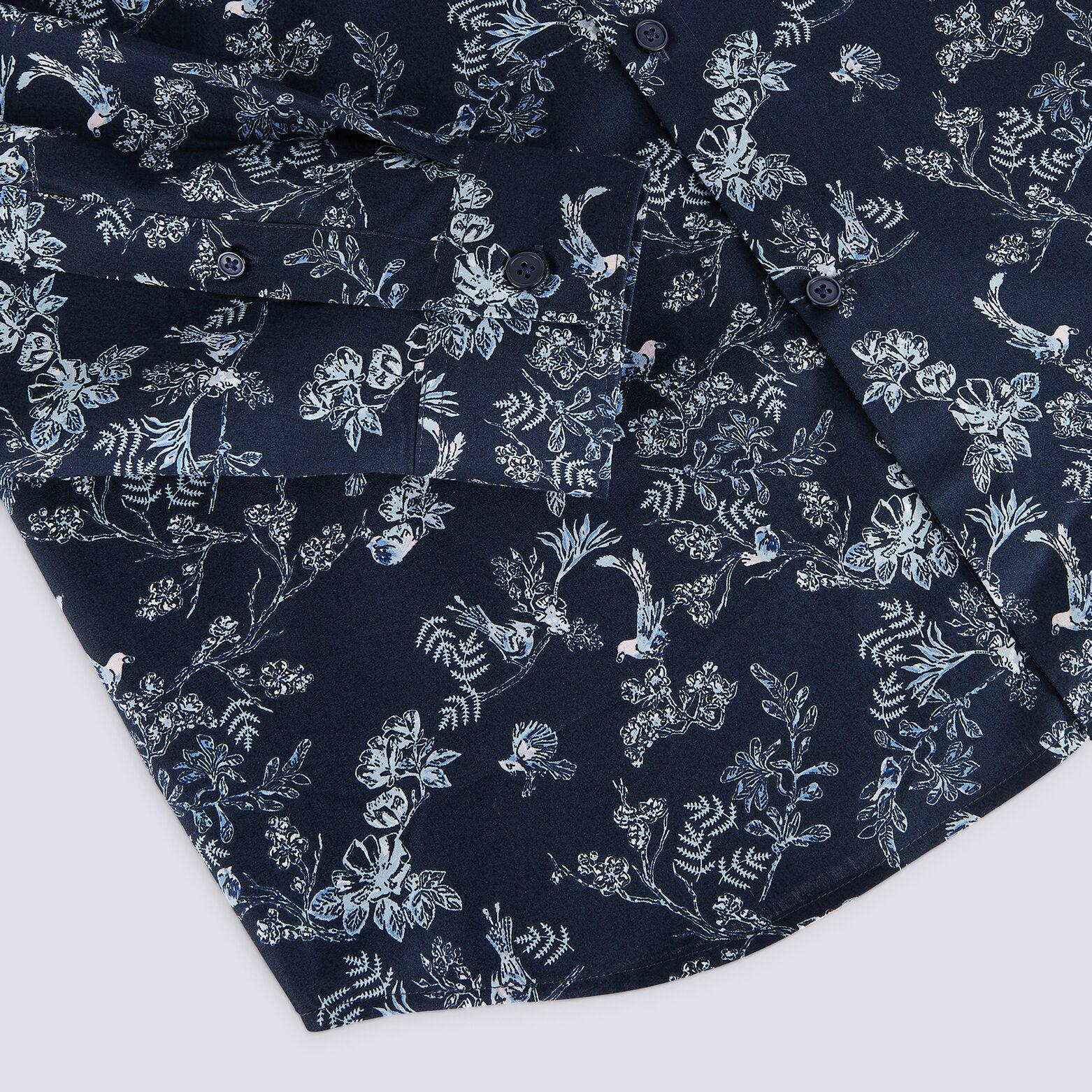 Chemise regular popeline motif fleuri