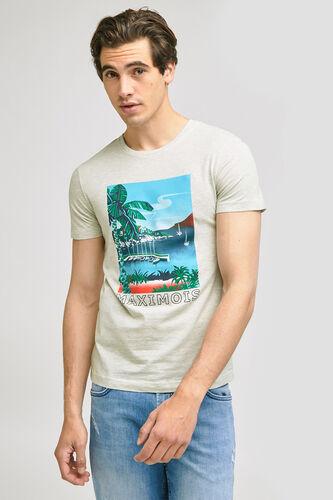 Tee-shirt imprimé station  balnéaire MAXIMOIS