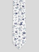 Cravate motif fleuri