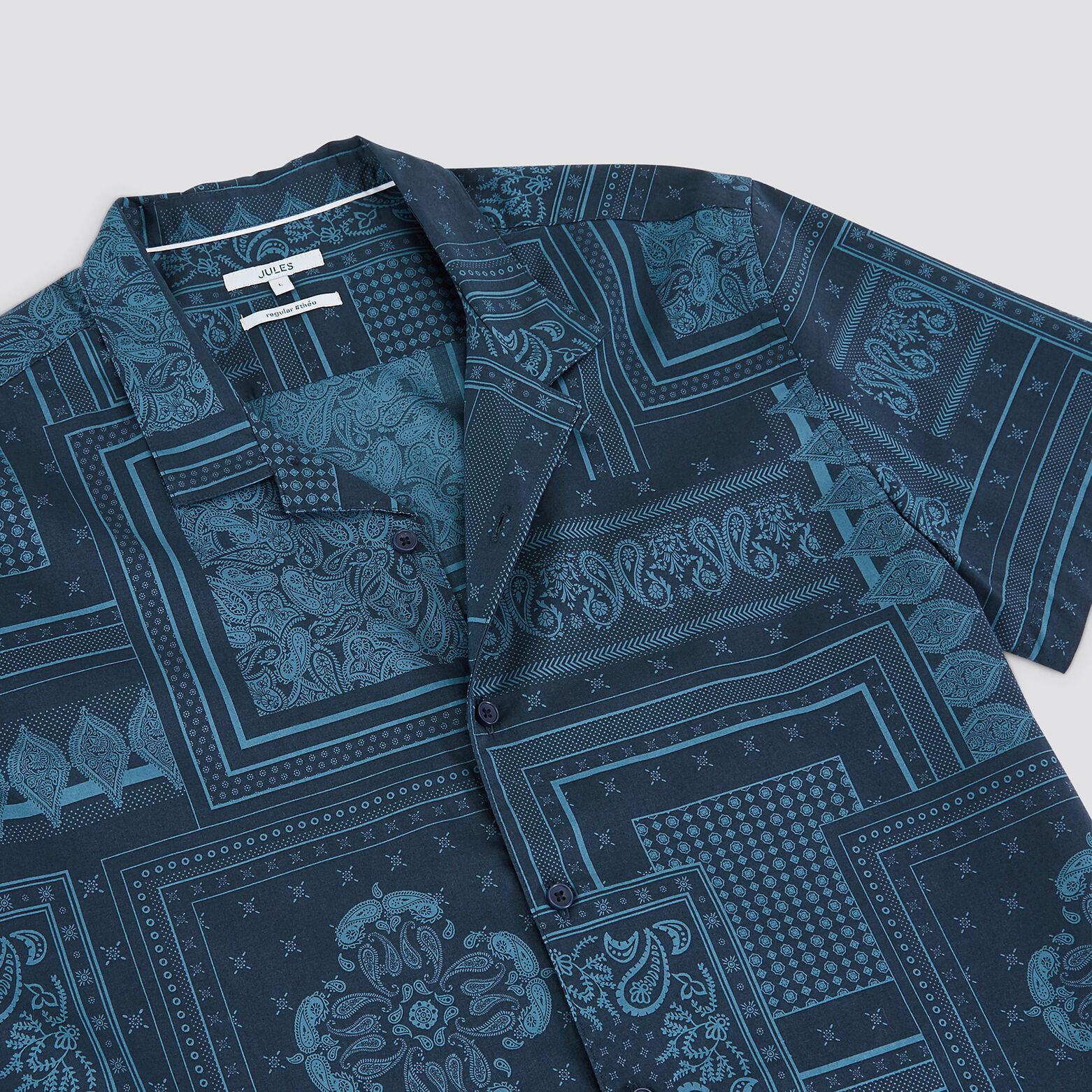 Chemise hawaïenne imprimé bandana regular coton