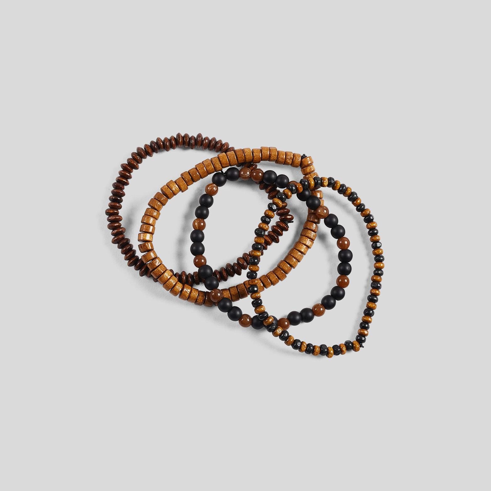 Bracelets perles en bois