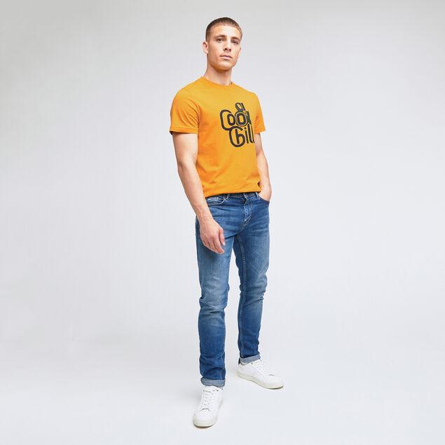 Tee-shirt print poitrine coton issu de l'agri bio