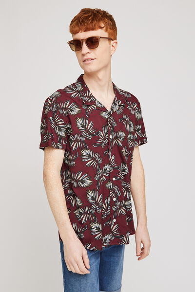 Chemise hawaïenne feuille regular viscose ecovero