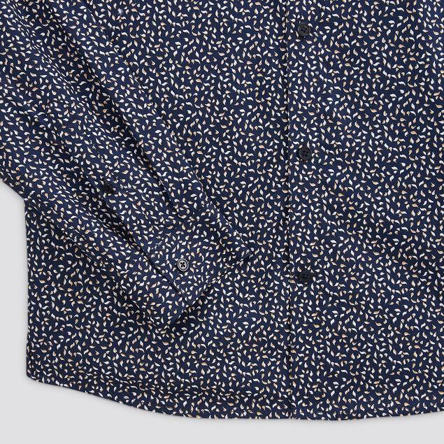 Chemise regular imprimé micro motif coton