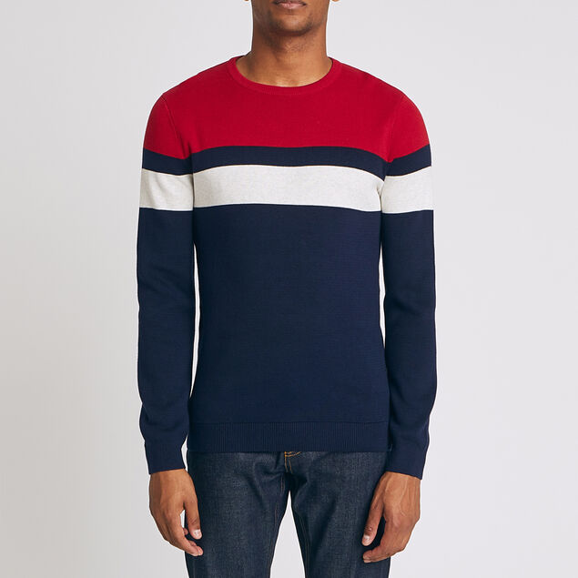 Pull col rond colorblock