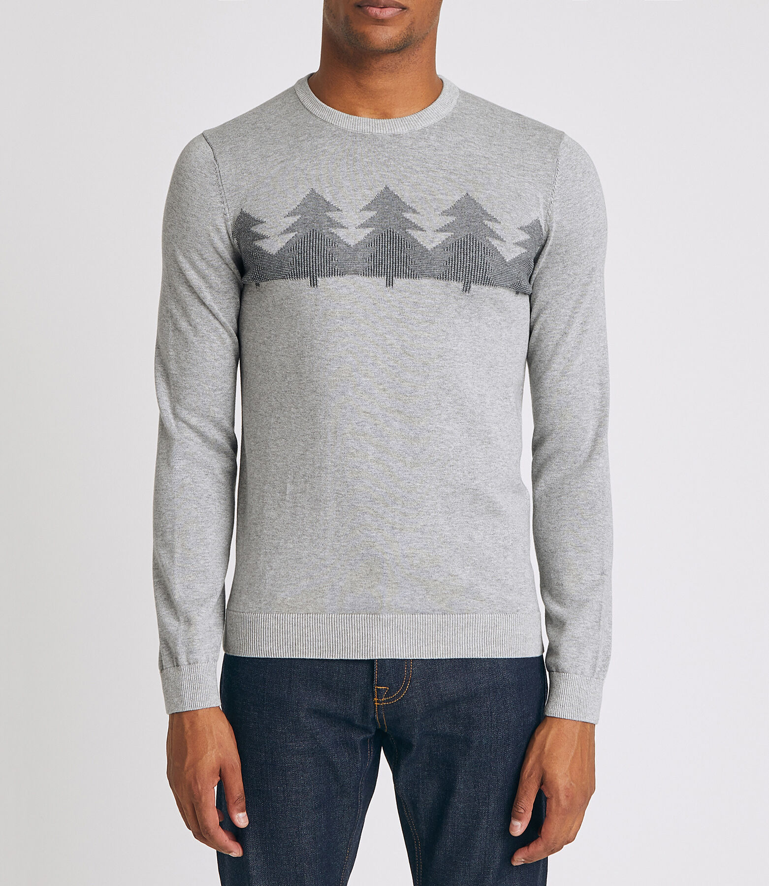 Pull col rond motif hiver