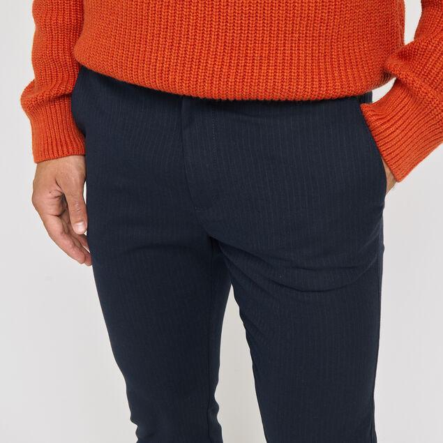 Pantalon slim à rayure