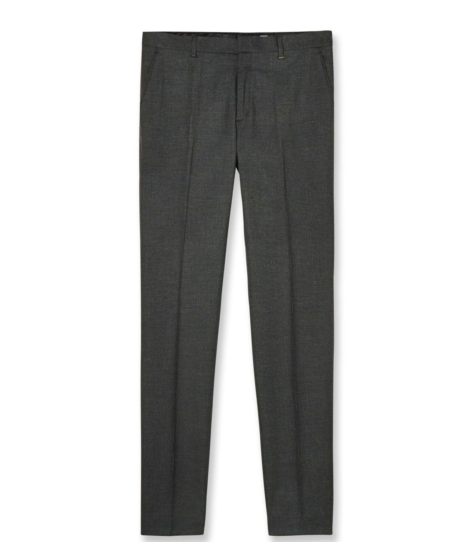 Pantalon de costume extra slim motif pied-de-poule