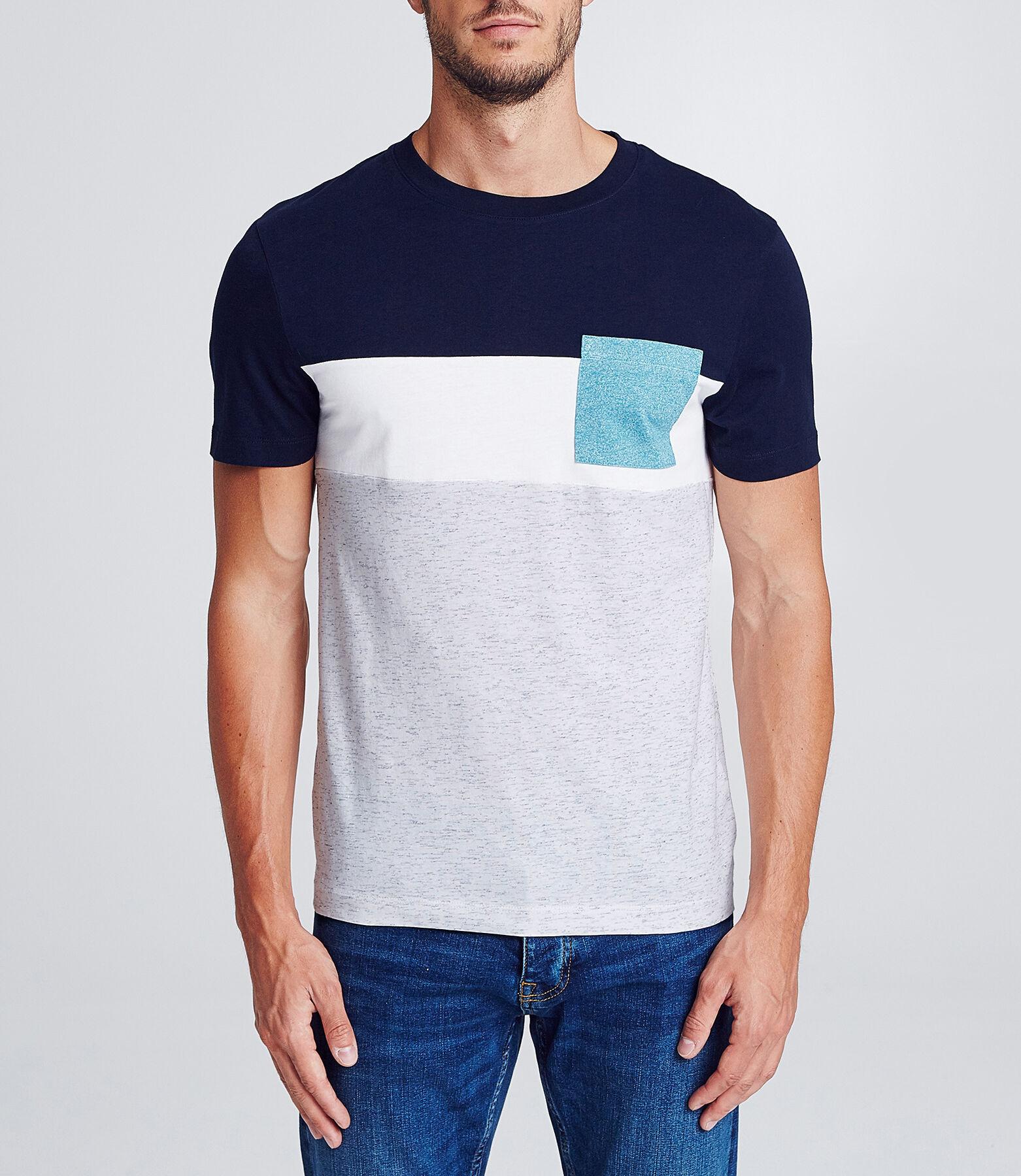 T-shirt colorblock poche poitrine