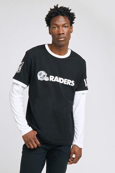 Tee shirt col rond Raiders licence NFL