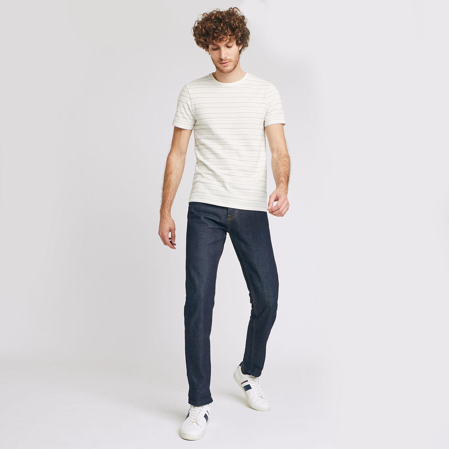 T-shirt rayé jacquard