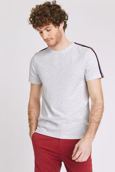 T-shirt met banden op de mouw