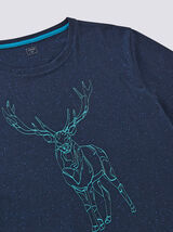Tee-shirt col rond renne