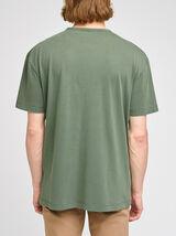 Tee-shirt effet lavé poche poitrine