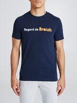 T-shirt met print van regio Bretagne