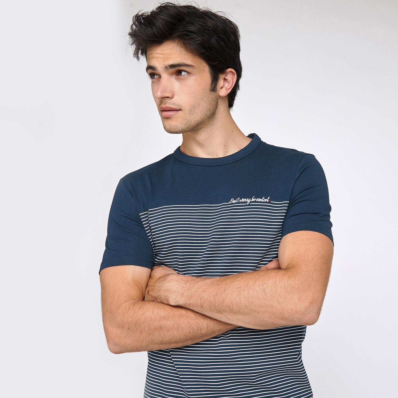 Tee-shirt marinière avec broderie