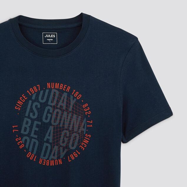 Tee-shirt print poitrine