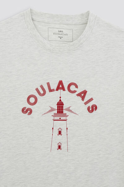 Tee-shirt imprimé station  balnéaire SOULACAIS