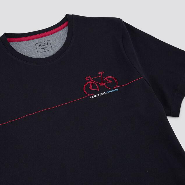 Tee-shirt broderie vélo