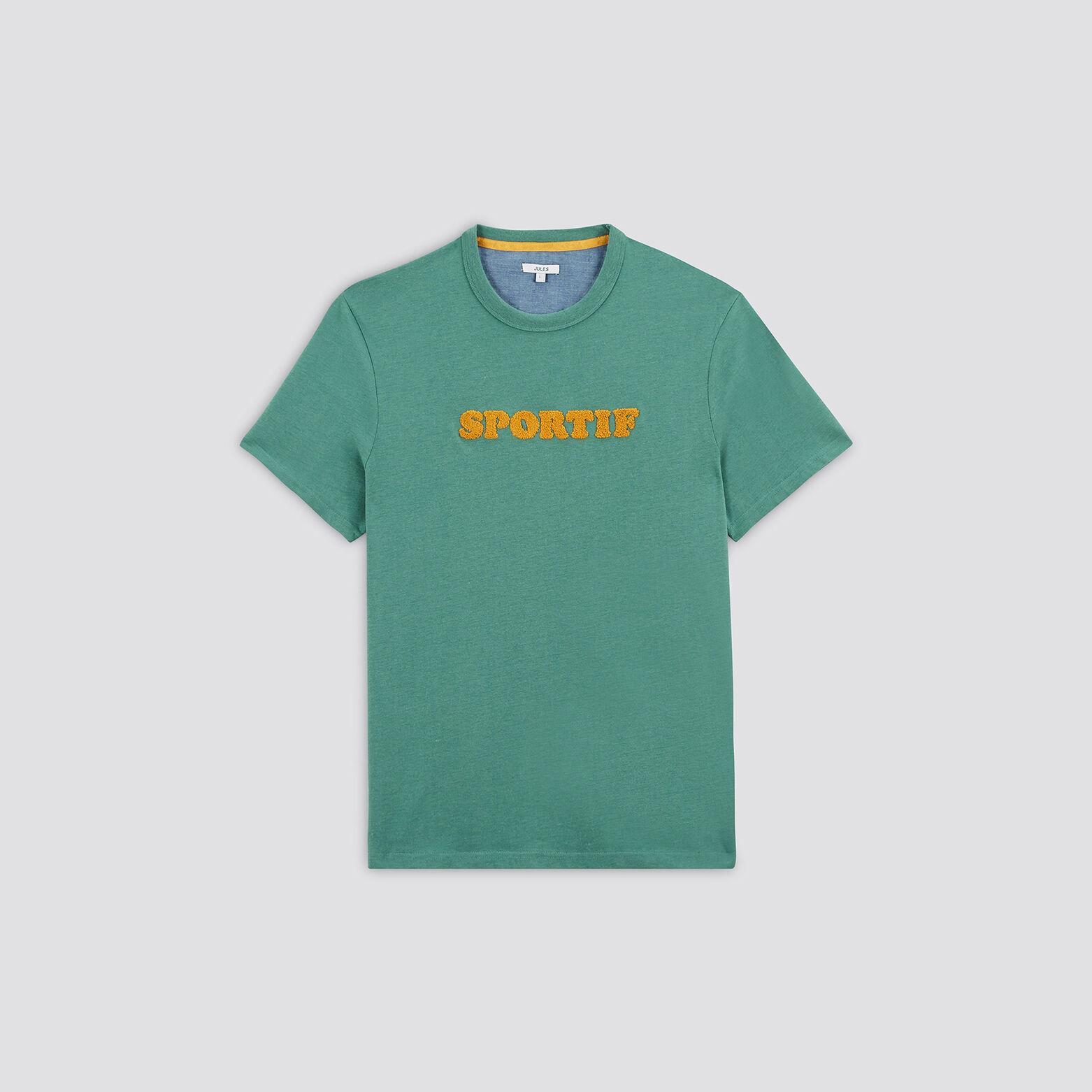 Tee-shirt chiné coton issu de l'agri bio et polyes