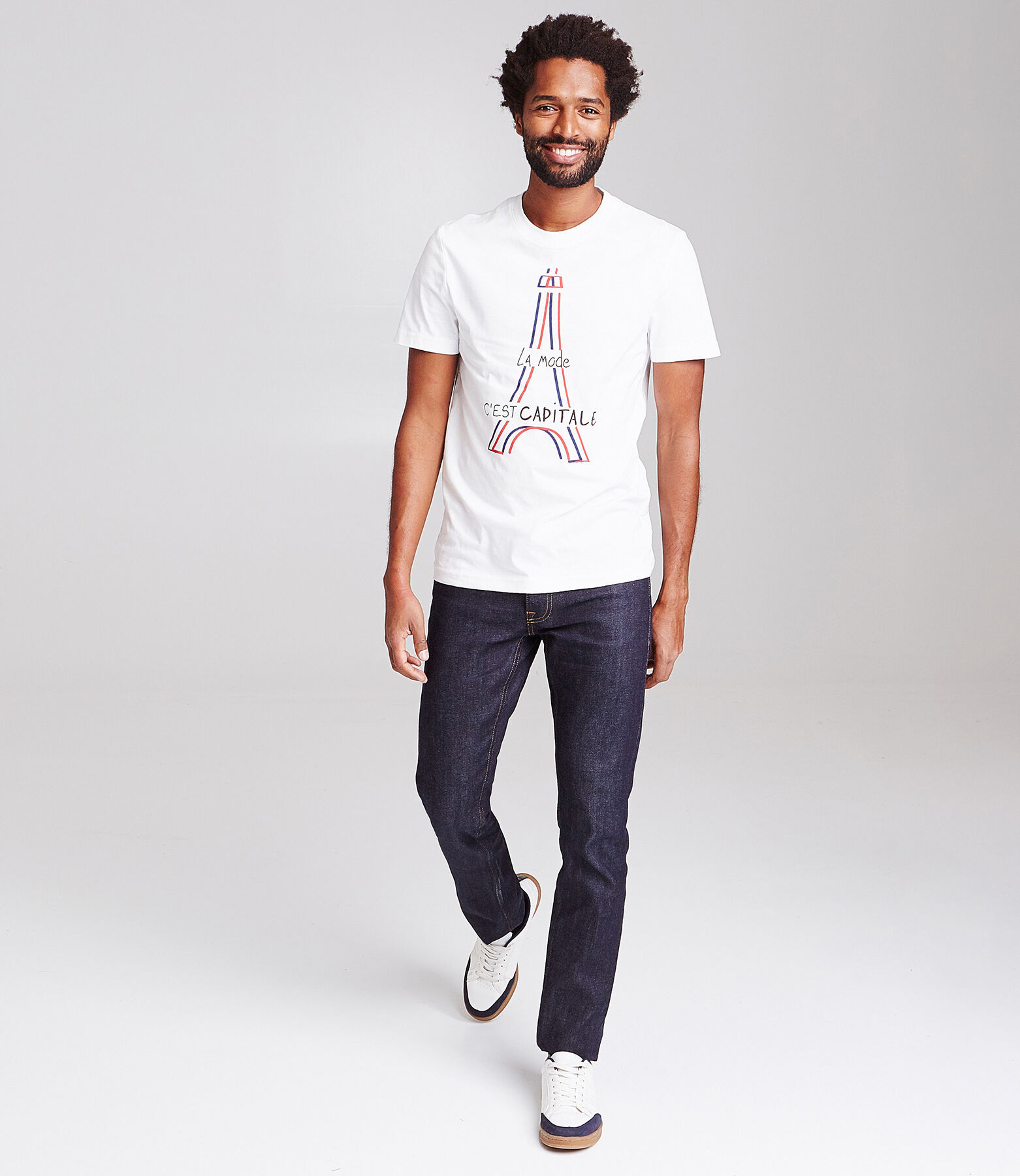 T-shirt met print van regio Parijs