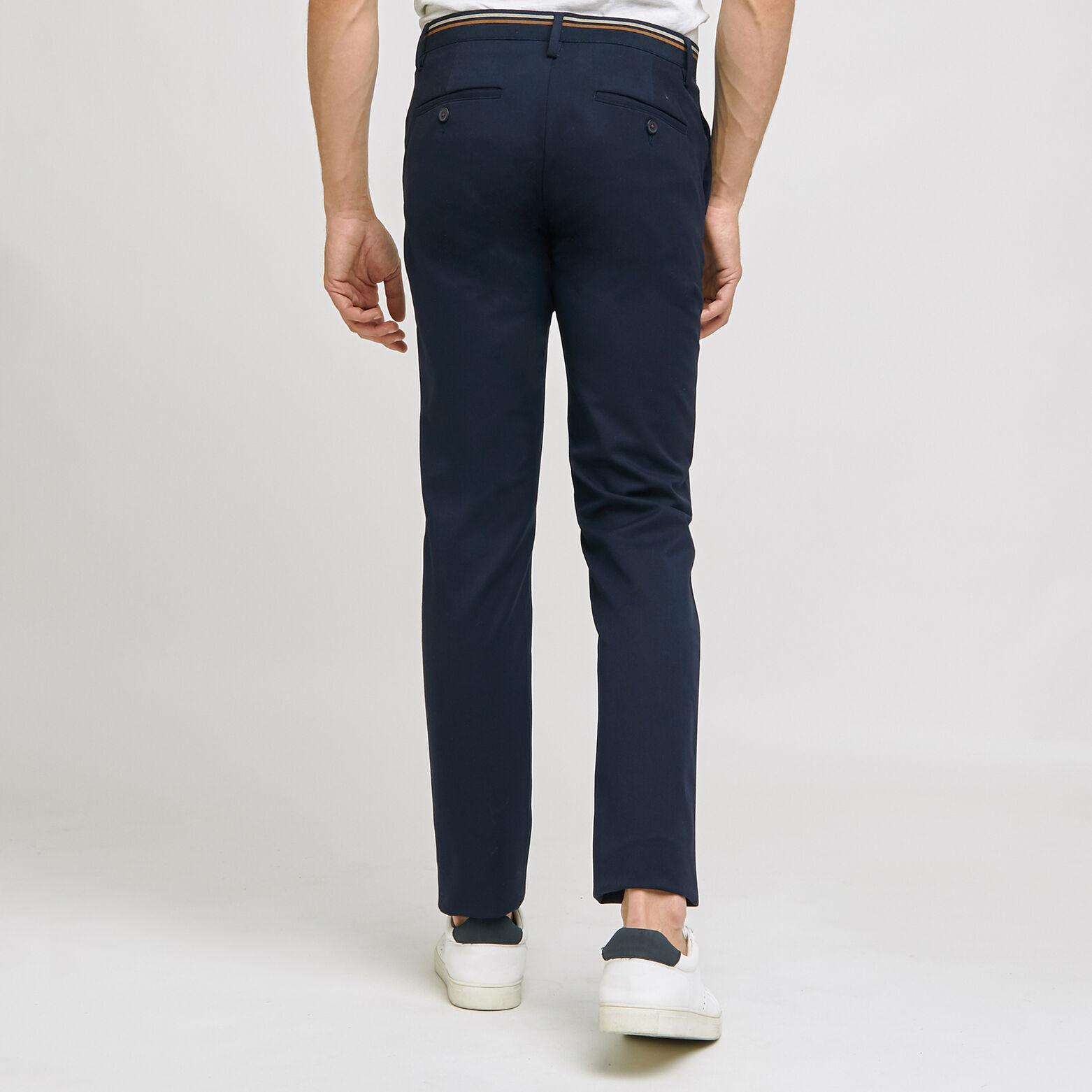 Pantalon chino uni ceinture elastiquée