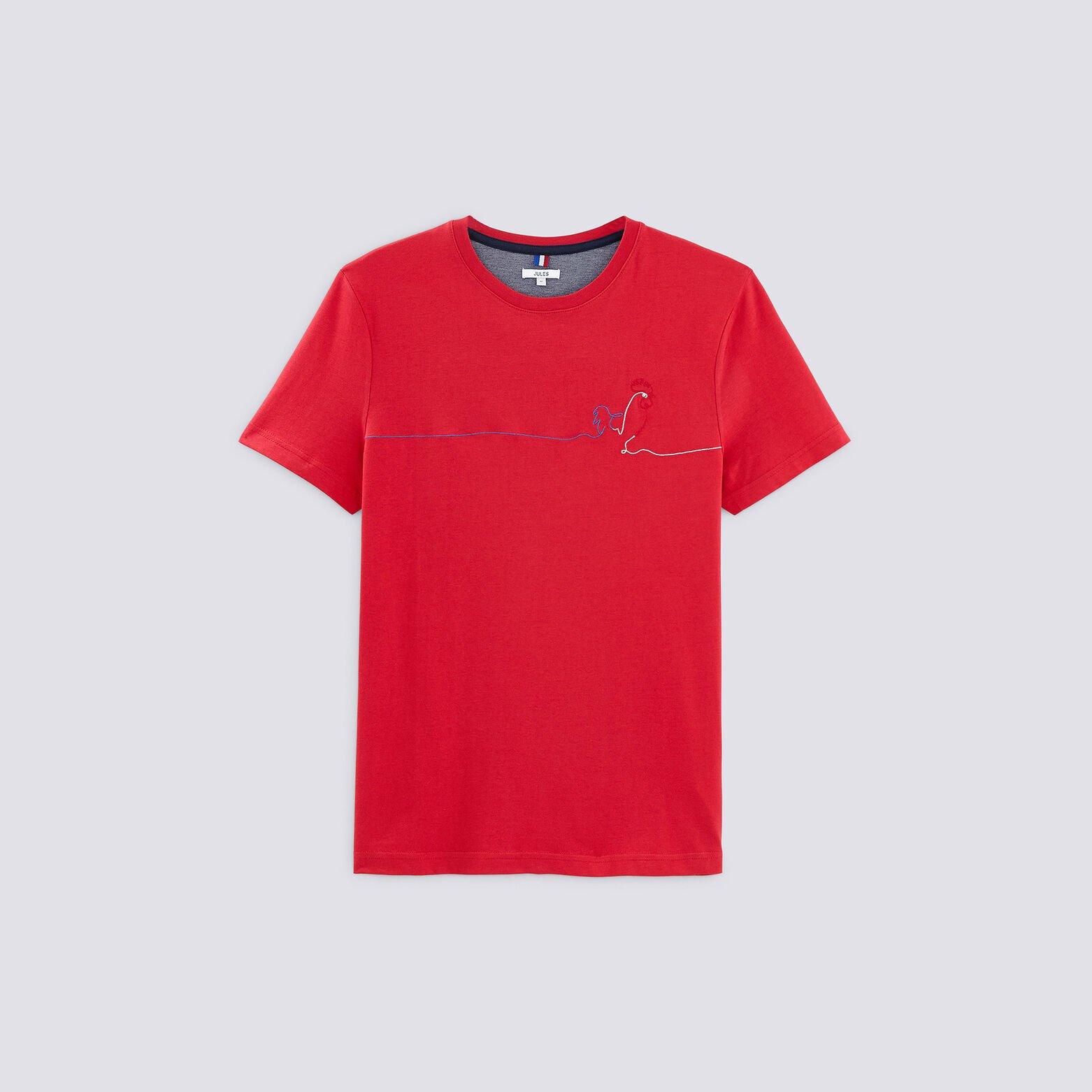 Tee shirt brodé coq