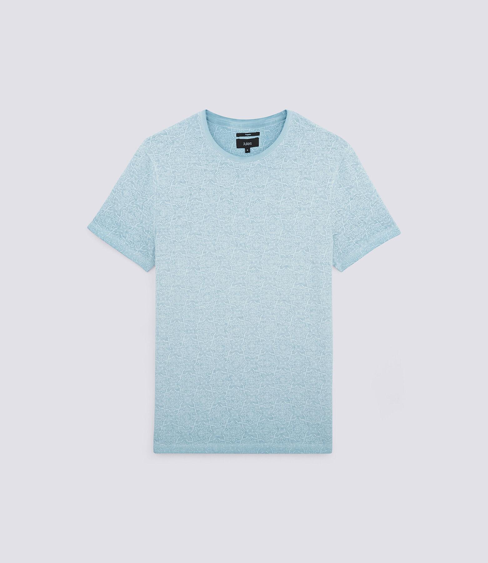 Tee shirt col rond imprimé oriental