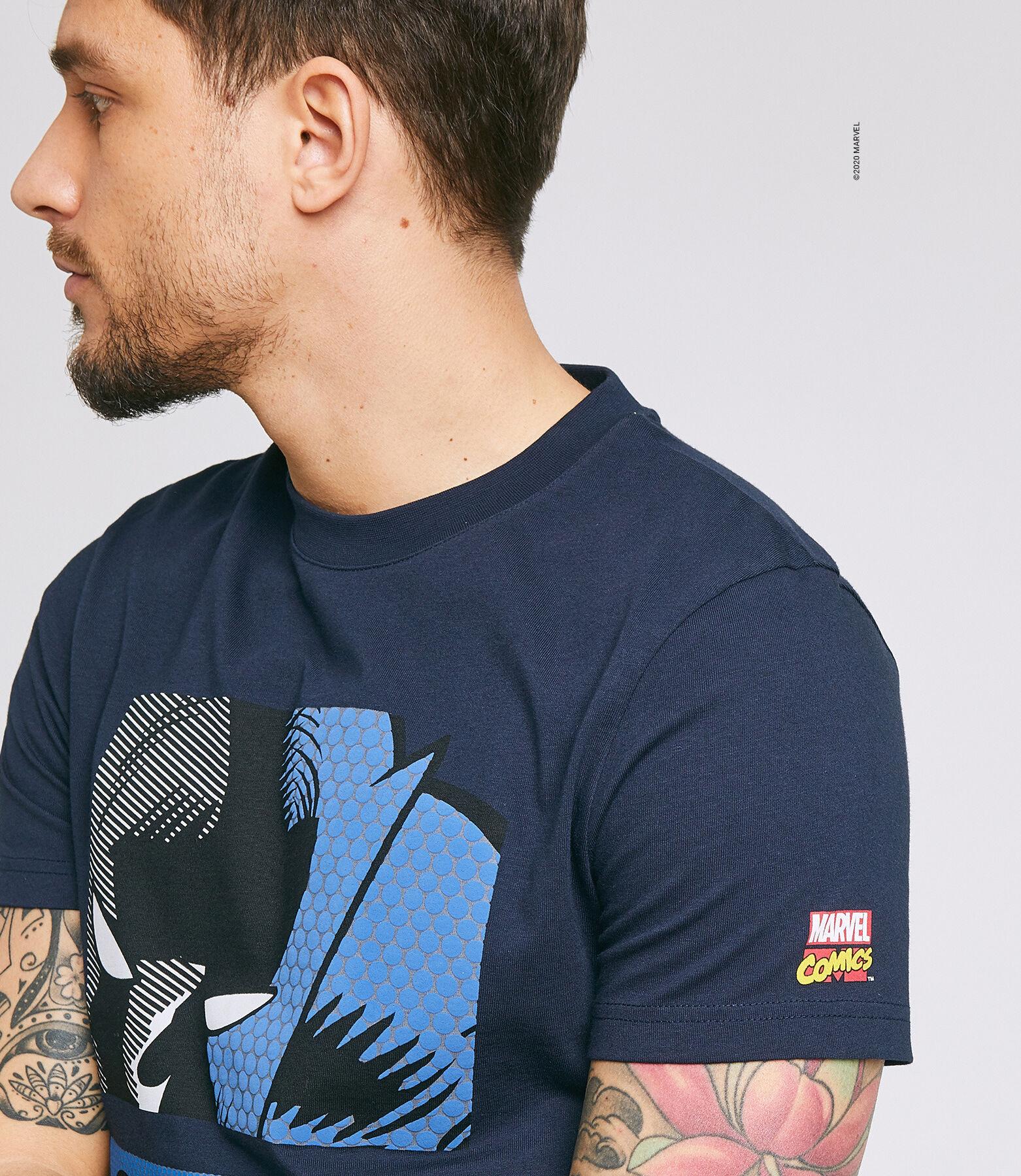 Tee shirt imprimé licence MARVEL BLACK PANTHER