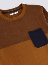 Pull color block bicolore jeu de points - coton is