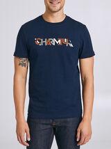 T-shirt met opdruk 'CHARMEUR'