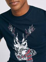 Tee shirt col rond animal
