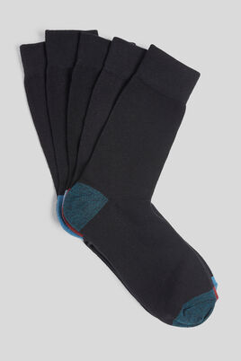 Chaussettes effets contrastés lot de 5