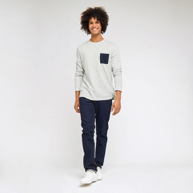 Tee-shirt poche contrastée