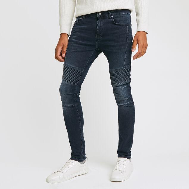 jean skinny #Max biker blue black