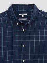 Chemise regular à carreaux twill