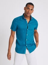 Chemise manches courtes regular lin