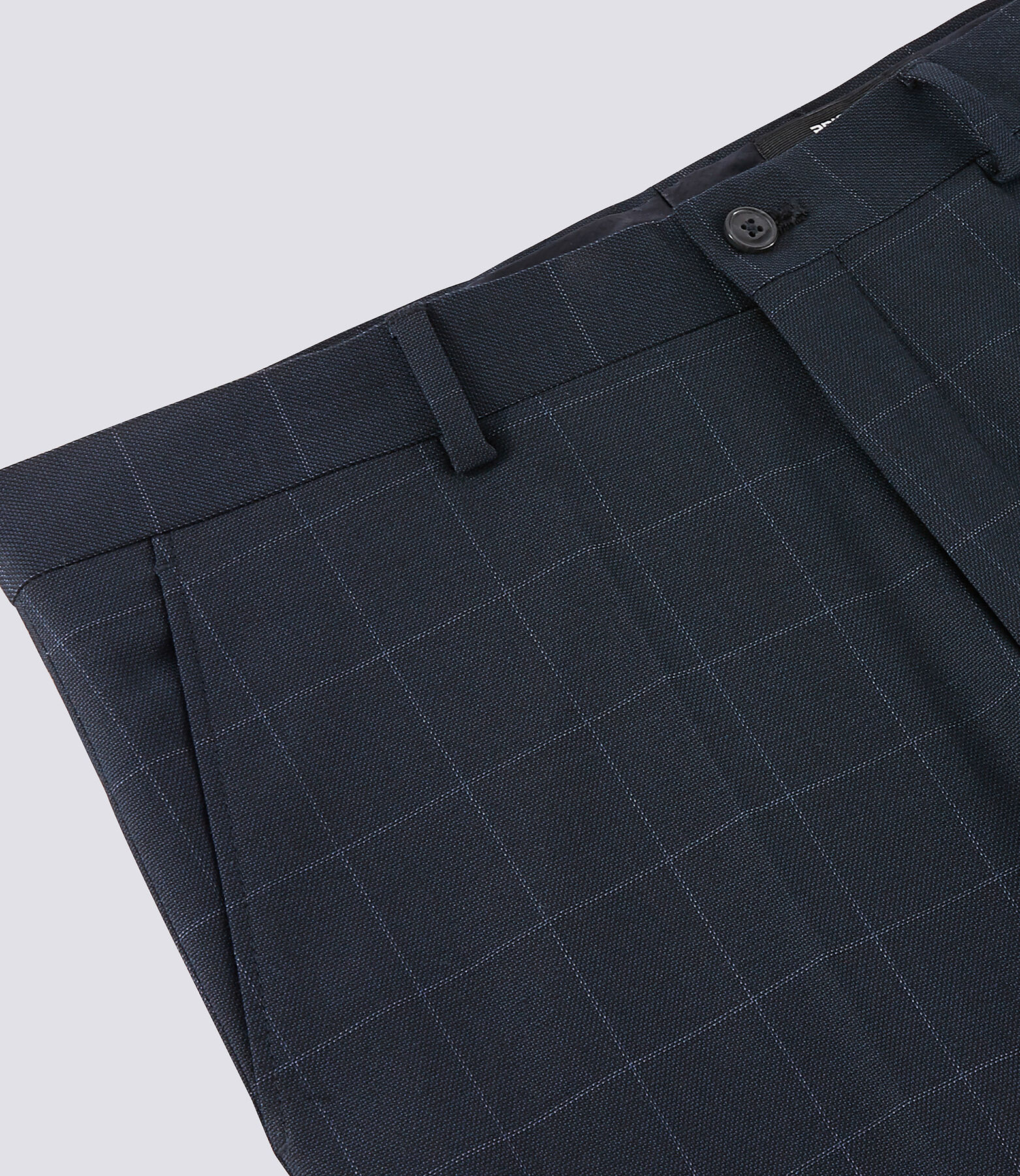 pantalon de costume slim motif carreau fenêtre