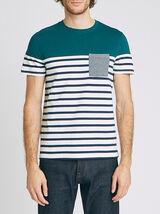 Tee-shirt marinière colorblock