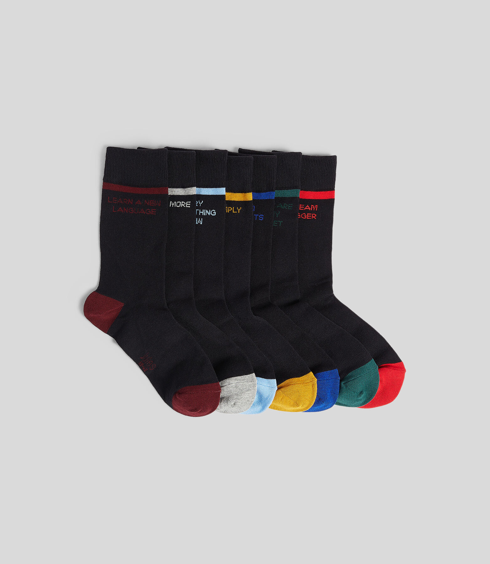 Box met 7 paar sokken