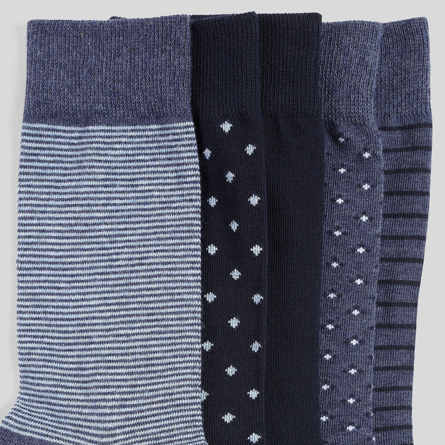 Lot de 5 paires de chaussettes micro motifs coton