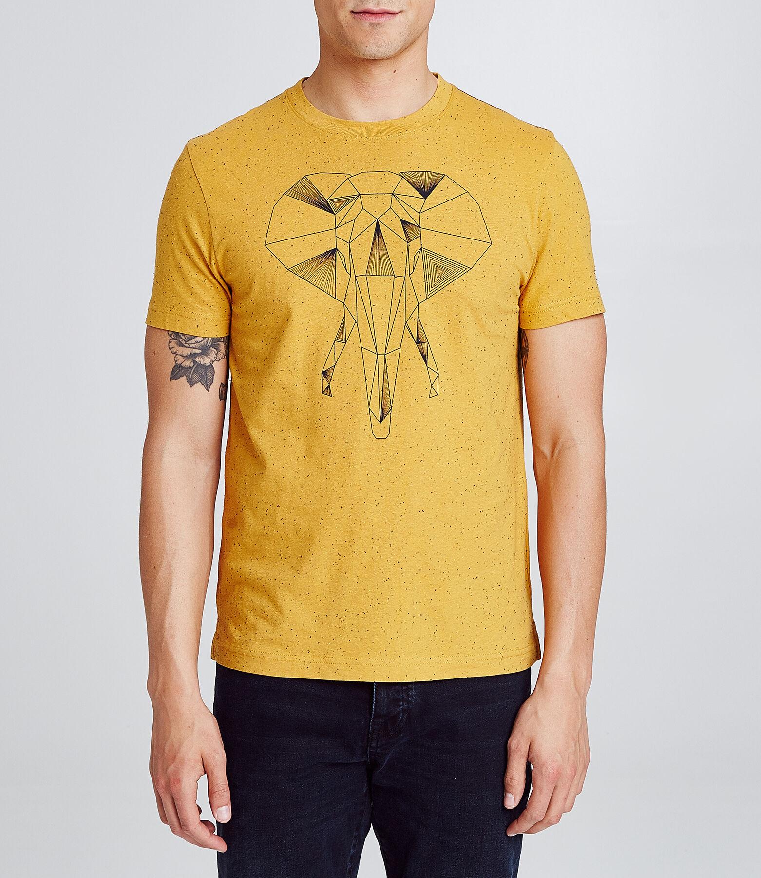 T-shirt met print van olifant
