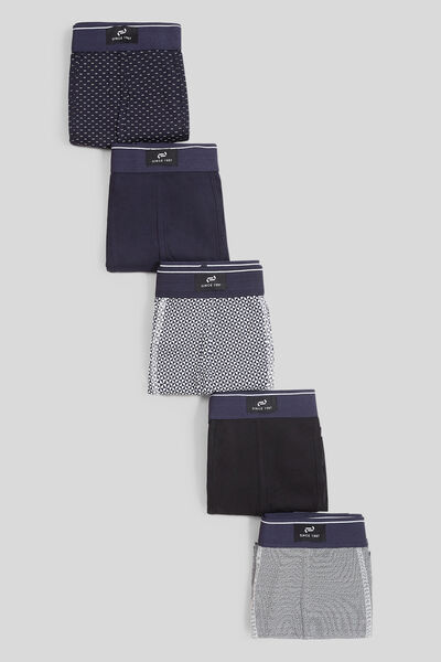 Lot de 5 boxers micro motifs